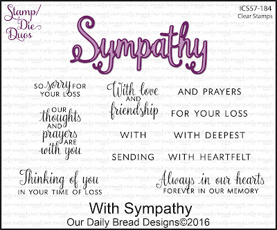 Our Daily Bread Designs Stamp/Die Duos: With Sympathy