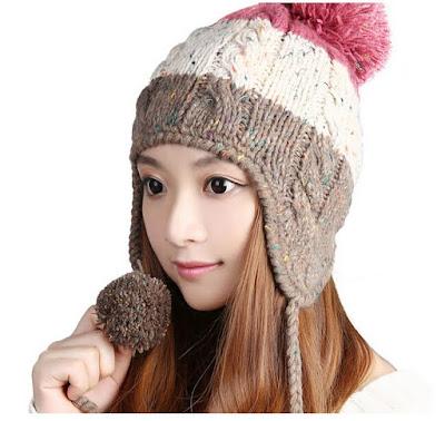 gorro feminino touca feminina chapeu quente cabeça mulher inverno look colrido marrom rosa cinza orelha pompom