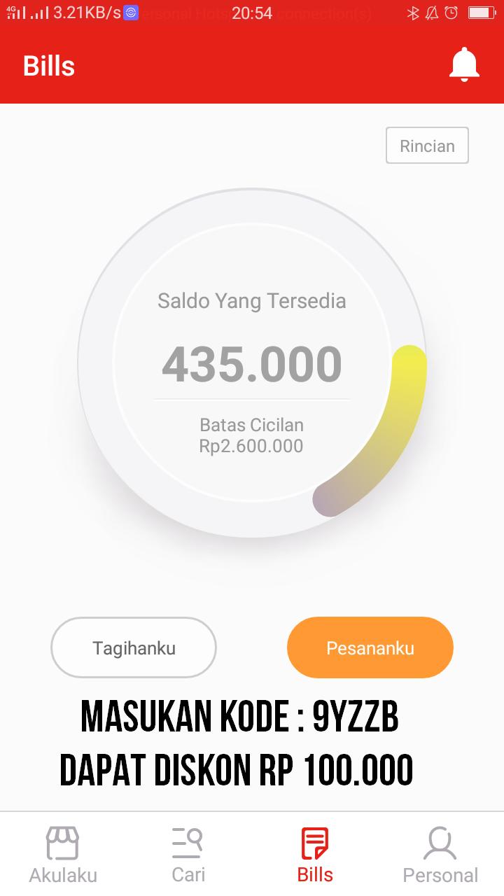 Pengalaman Review Kredit Hp Di Aplikasi Akulaku Indonesia Kisah