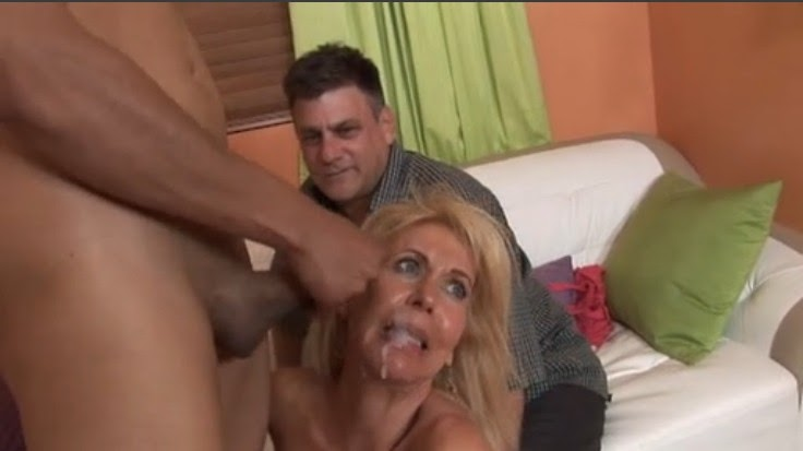 Husband fucked in front of wife