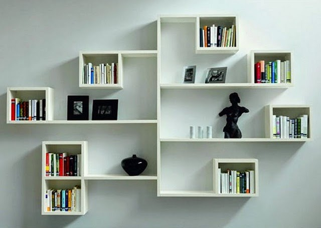 modern minimalist wall shelf