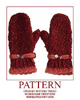 crochet patterns, how to crochet, mittens, ladies,