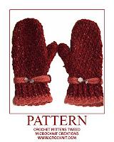 crochet patterns, how to crochet, mittens, ladies,