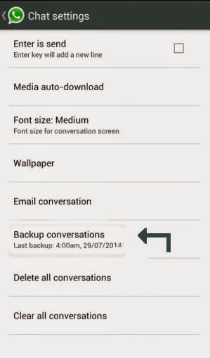 backup whatsapp conversations
