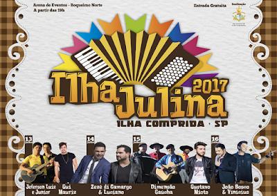 Zezé di Camargo & Luciano, João Bosco e Vinicius e outros artistas farão shows no Ilha Julina entre quinta 13/07 e domingo 16/07