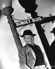 Billy Wilder on the set of Sunset Boulevard