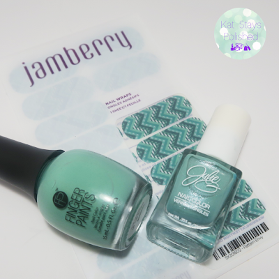 Jamberry Pattern Envy - JulieG Shark's Cove, FingerPaints The Mural of the Story | Kat Stays Polished