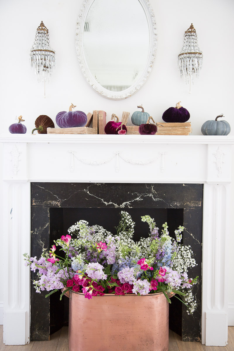 decorate your fireplace mantel for fall beautifully shabbyfufu