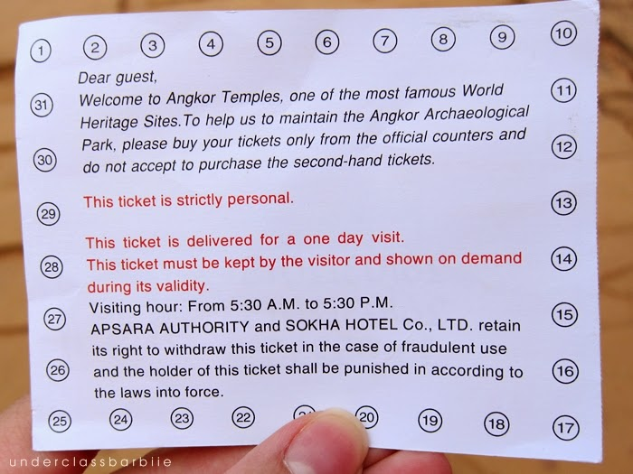 cambodia temple ticket prices
