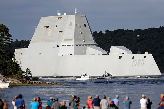 Amerika Serikat Resmikan Kapal Destroyer USS Zumwalt