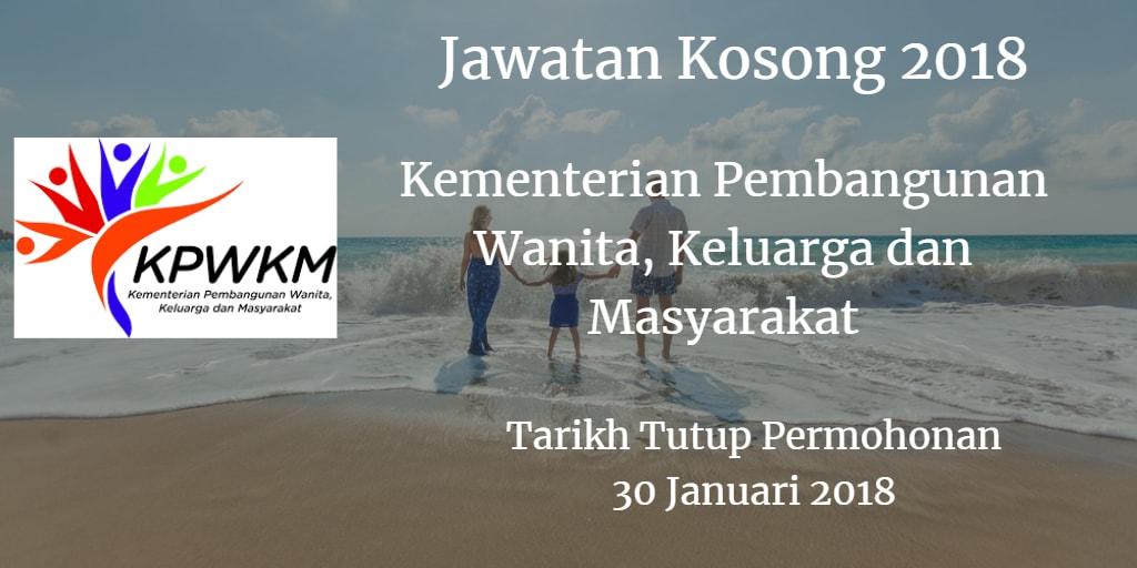 Jawatan Kosong KPWKM 30 Januari 2018