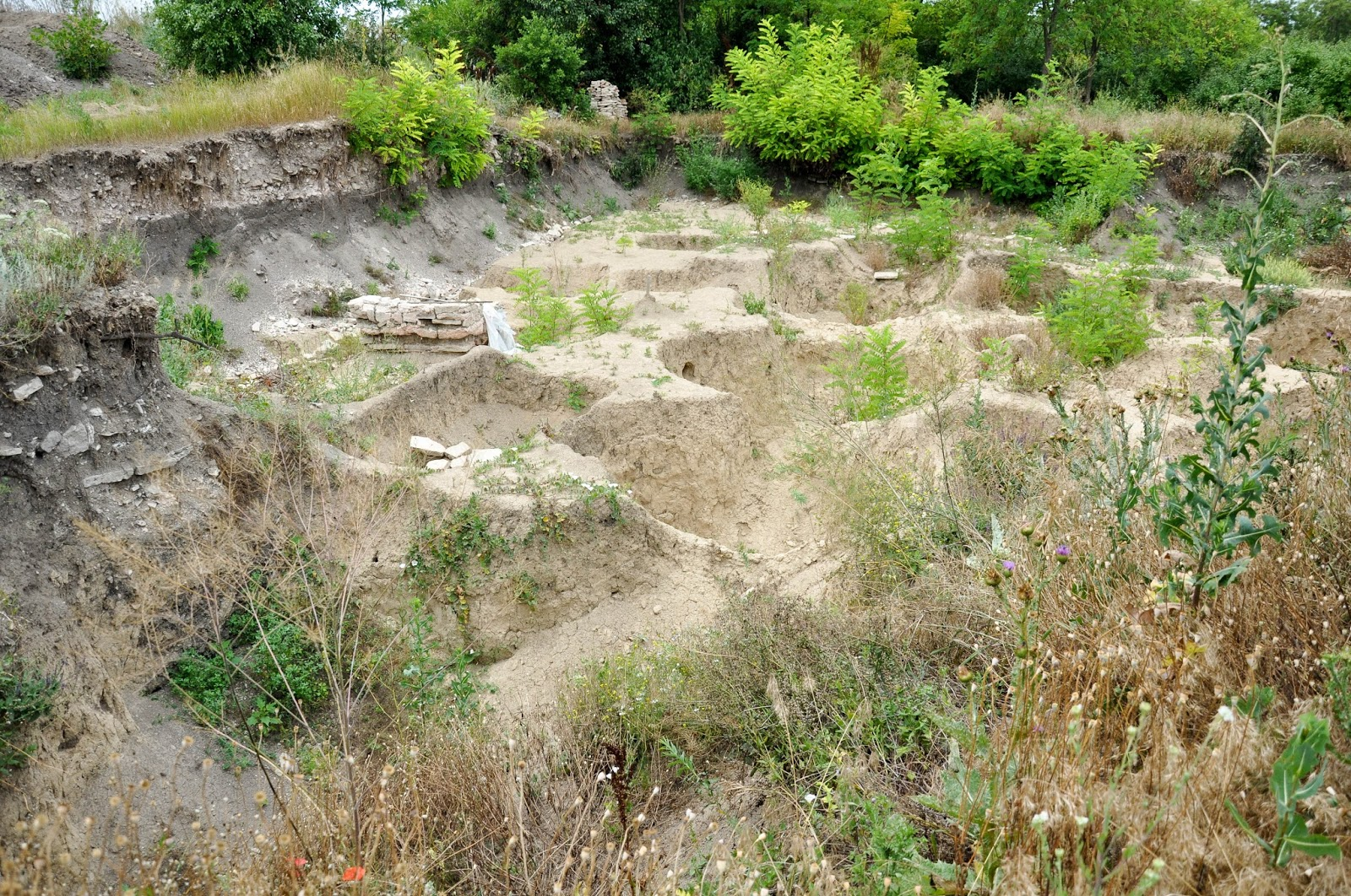 Archaeological excavations, Pliska, Bulgaria