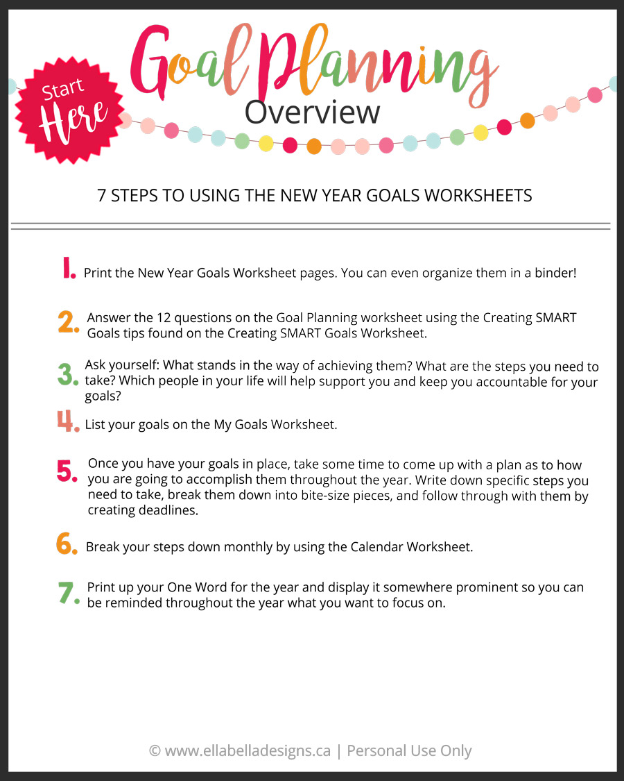 Ellabella Designs How To Plan Your Goals And Live Your Best Life
