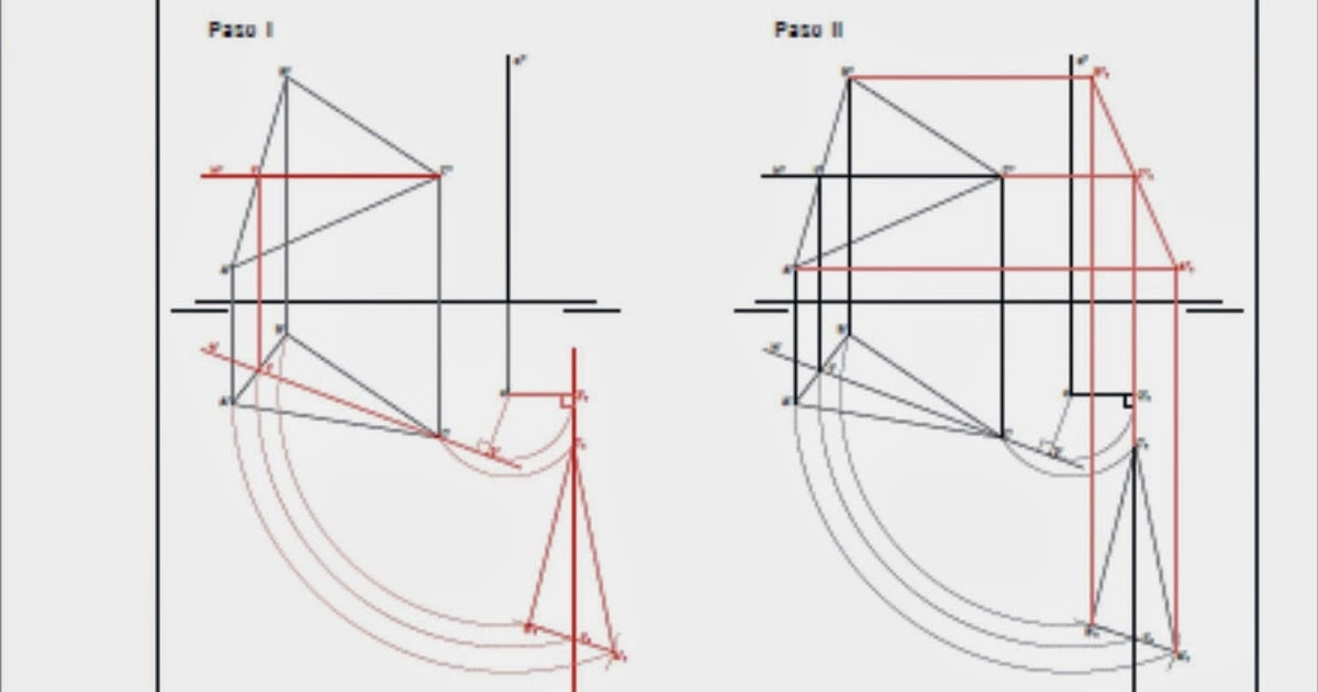 La Verdadera Magnitud: Geometría Descriptiva: Giros. Verdadera Magnitud De Un Plano