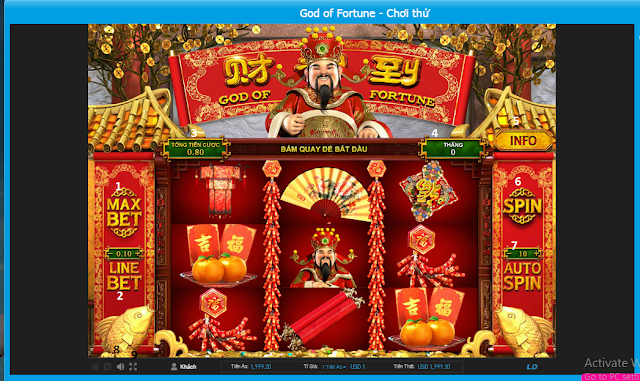 slot game- god of fortune