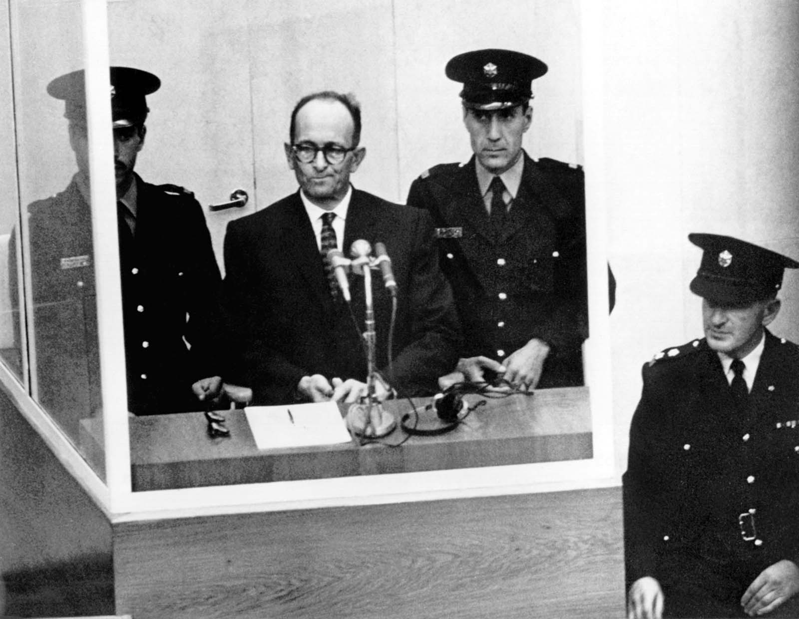 In the closing days of the war and immediately thereafter, Eichmann found refuge with fellow SS members on the shores of Austria's Altaussee Lake.