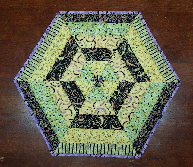 Halloween hexagon quilt