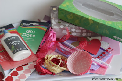 valentines day post box materials