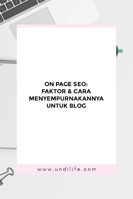 On page SEO turorial