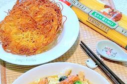 Crispy Vermicelli Pasta with Seafood Egg Gravy