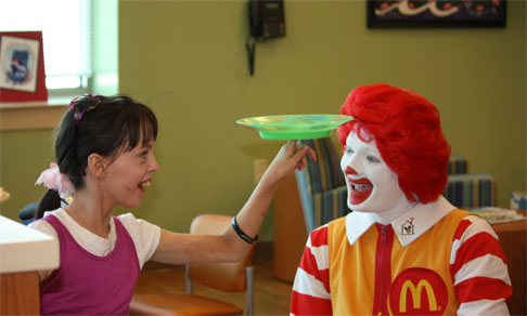 clown dans le macdonald