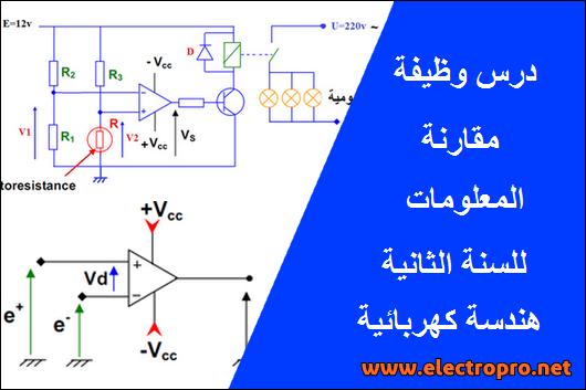 درس وظيفة المقارنة للسنة الثانية هندسة كهربائية تقني رياضي