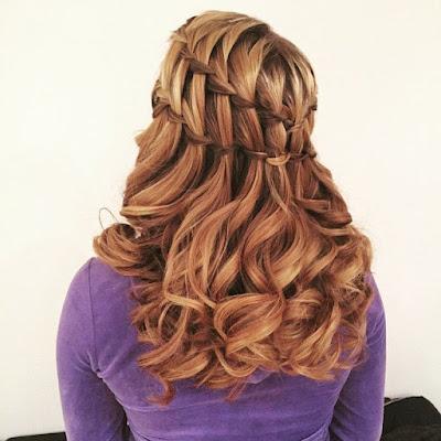 peinado con trenzas cabello suelto
