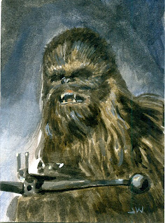Chewbacca Sketch Card ACEO