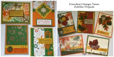 Vintage Leaves, Paisleys and Posies Fall cards