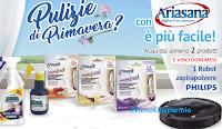 Logo Con Ariasana vinci ogni mese un aspirapolvere Philips Smart
