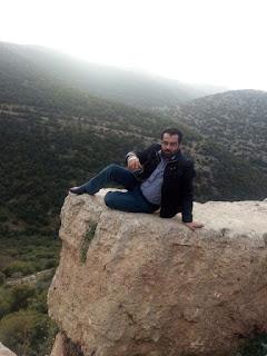 منظر طبيعي عنبه الاردن اطلالة من فوق الصخور