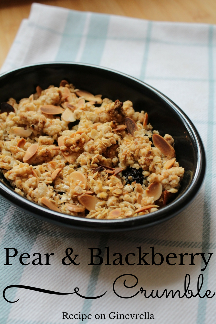 Pear and Blackberry Crumble Recipe