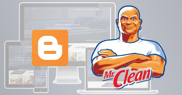 قالب تنظيف بلوجر جديد Cleaning Blogger Template