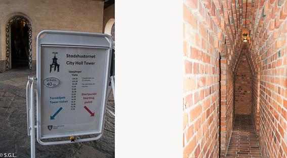 Horario y rampa de la torre del ayuntamiento de Estocolmo