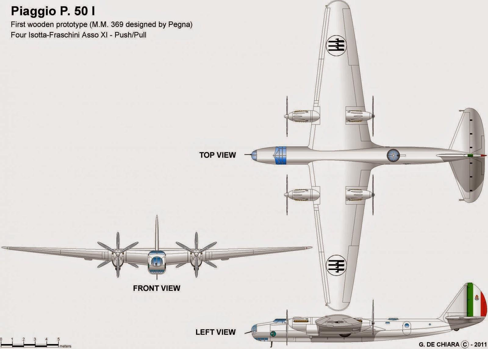Italian Aircraft Of Wwii Piaggio P 50