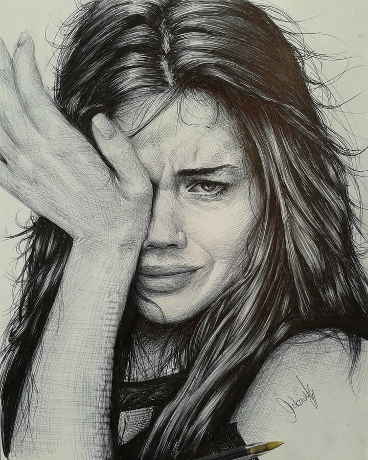 09-Upset-and-Hurt-Gabriel-Vinícius-Expressions-in-Ballpoint-Pen-Portraits-www-designstack-co