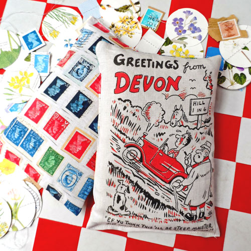Greetings from Devon lavender bags