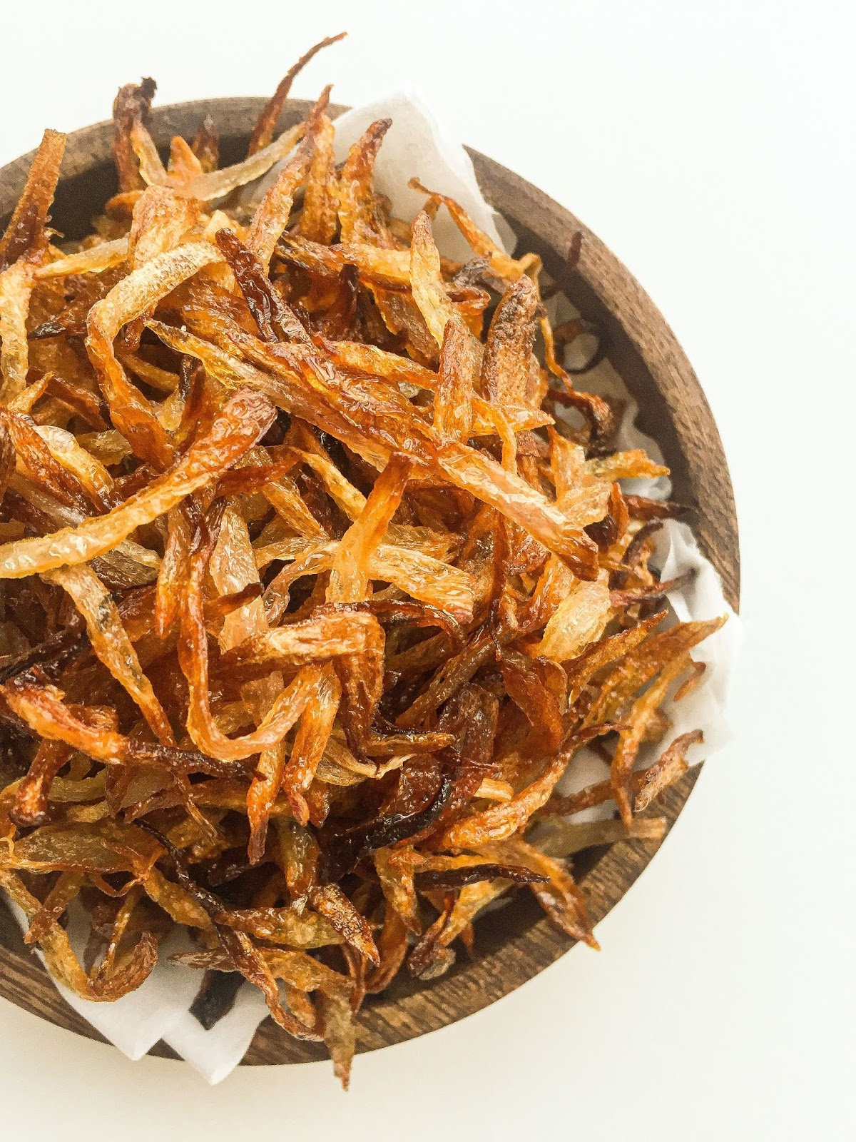 golden fried onions