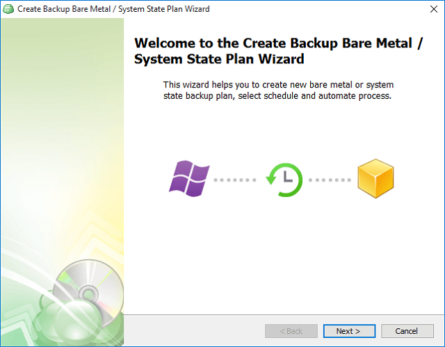 Create Backup Bare Metal