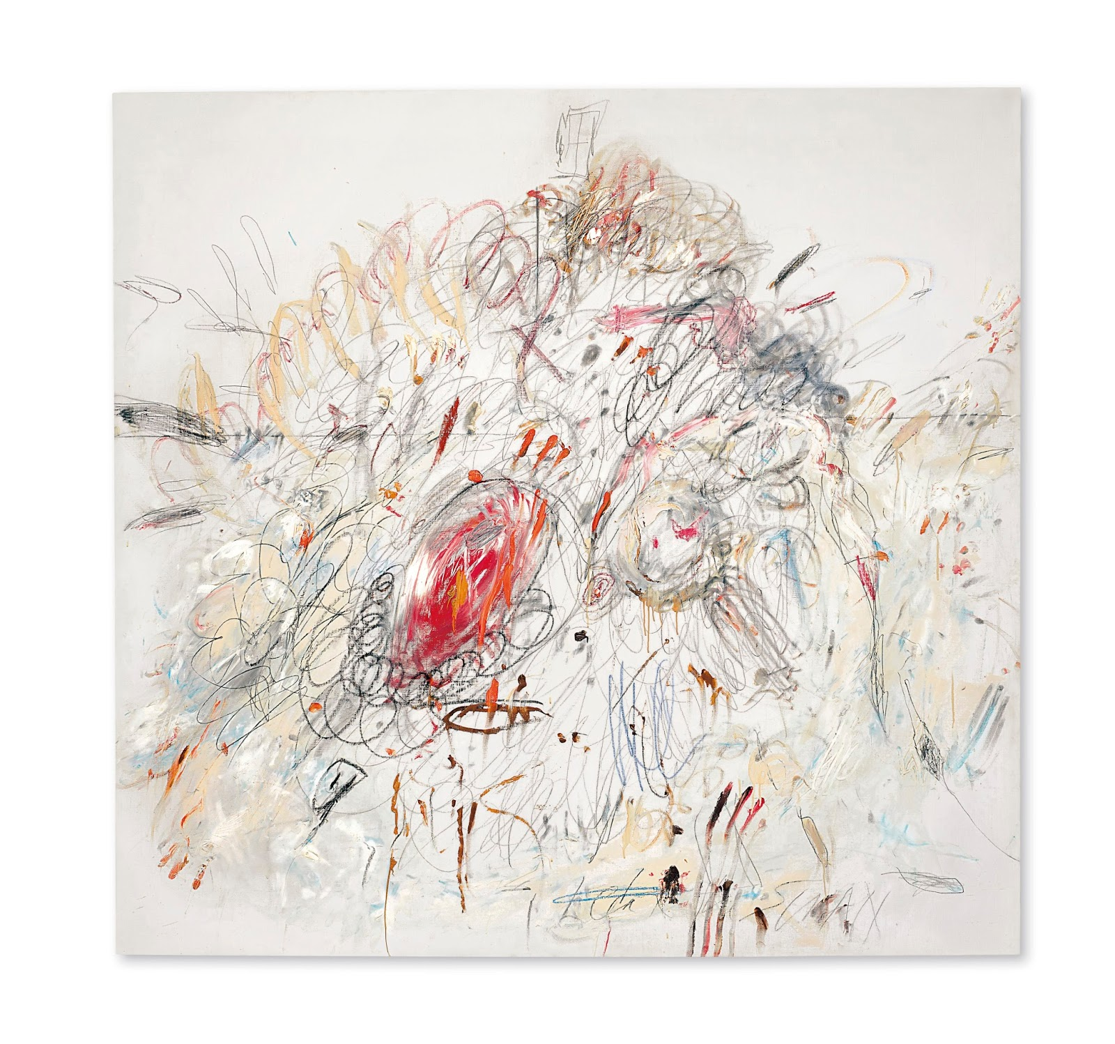 dc9251f58f8 Cy Twombly Leda and the Swan Sells for  52.9 Million Dollars ...