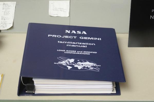First Man NASA Project Gemini manual prop