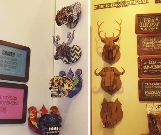 quadrinhos, printas, a casa eh sua, craft design, decoração, decor, cabeça alce