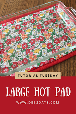 Homemade Large Hot Pad for Glass Pans and Casserole Dishes Sewing Project