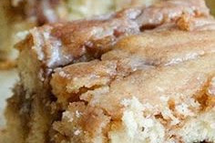Cinnamon Roll Cake From Scratch Recipe Card