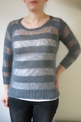 sheer stripes handknit jumper