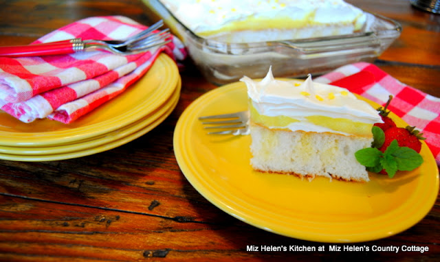 Lemon Ice Box Pudding Cake at Miz Helen's Country Cottage