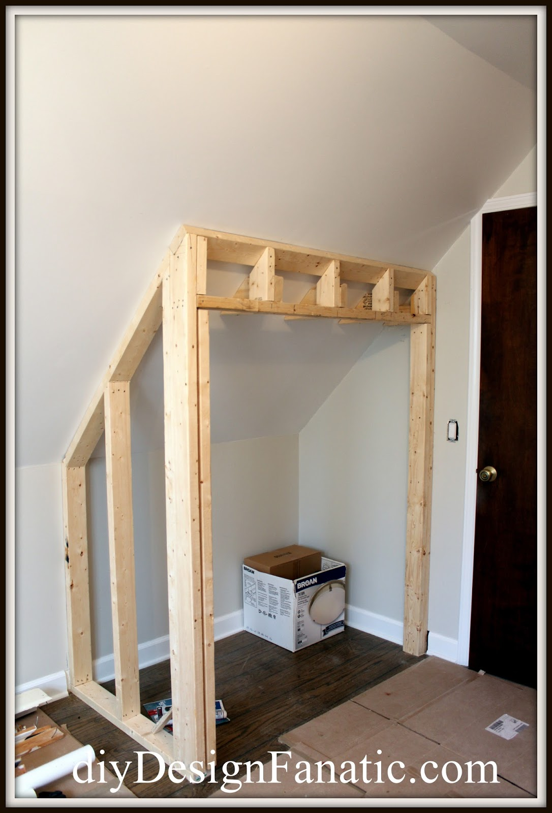 Diy design fanatic stealing floor space to build a closet Build your own bedroom wardrobes