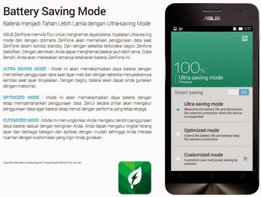 Mode Power Saver sesuai kebutuhan