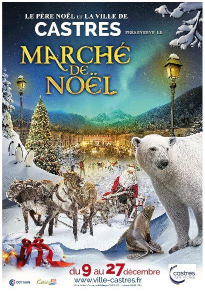 affiche du marché de Noël Castres