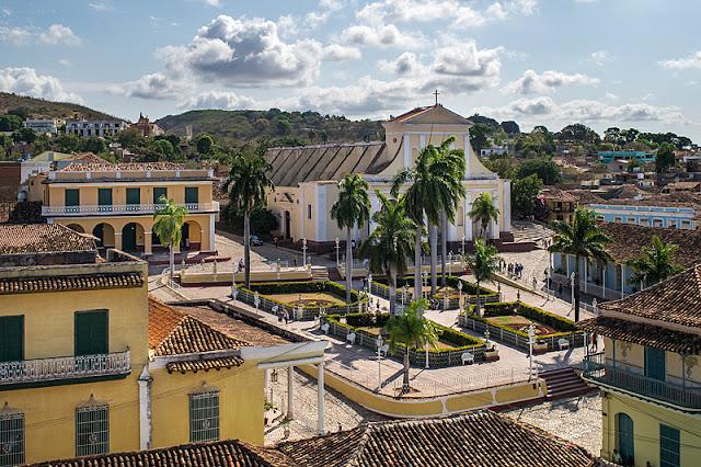 La Plaza Mayor à Trinidad (Cuba)